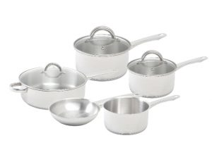 Abdoolally Quality 8 Piece Stainless Steel Cookware Set