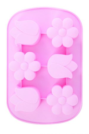 Abdoolally Quality 6 Cup Silicone Flower Mold