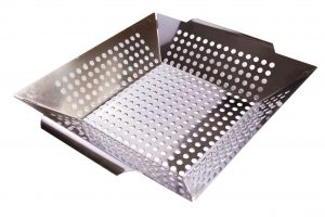 Abdoolally Quality Stainless Steel Square Grilling Wok