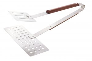 Abdoolally Quality BBQ Jumbo Turner Tongs with Rosewood Handle