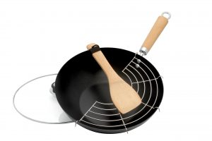 Abdoolally Quality 5 Piece Carbon Steel Wok Set