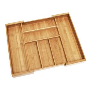 Abdoolally Quality Bamboo Expandable Cutlery Tray