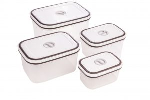 Abdoolally Quality Set of 4 Plastic Food Container