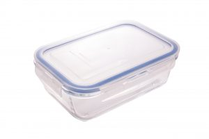 Abdoolally Quality Rectangular Glass Food Container, 1.3L