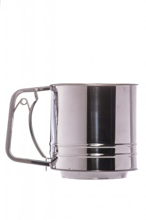 Abdoolally Quality Stainless Steel Flour Sifter, 3 Cups