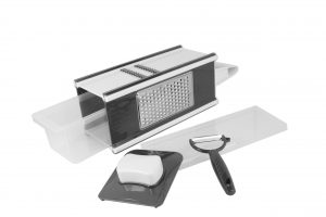 Abdoolally Quality 4-in 1 multi grater set with peeler and storage box
