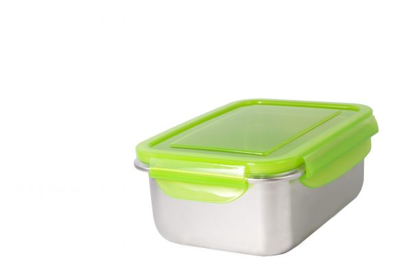 Abdoolally Quality Stainless Steel Rectangular Container, 1800ml