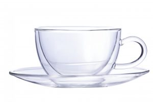 Abdoolally Quality Double-Wall Tea Cup and Saucer