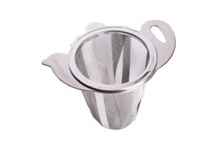 Abdoolally Quality Stainless Steel Tea Strainer with Drip Tray