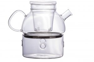 Abdoolally Quality Borosilicate Glass Tea Pot, 950ml